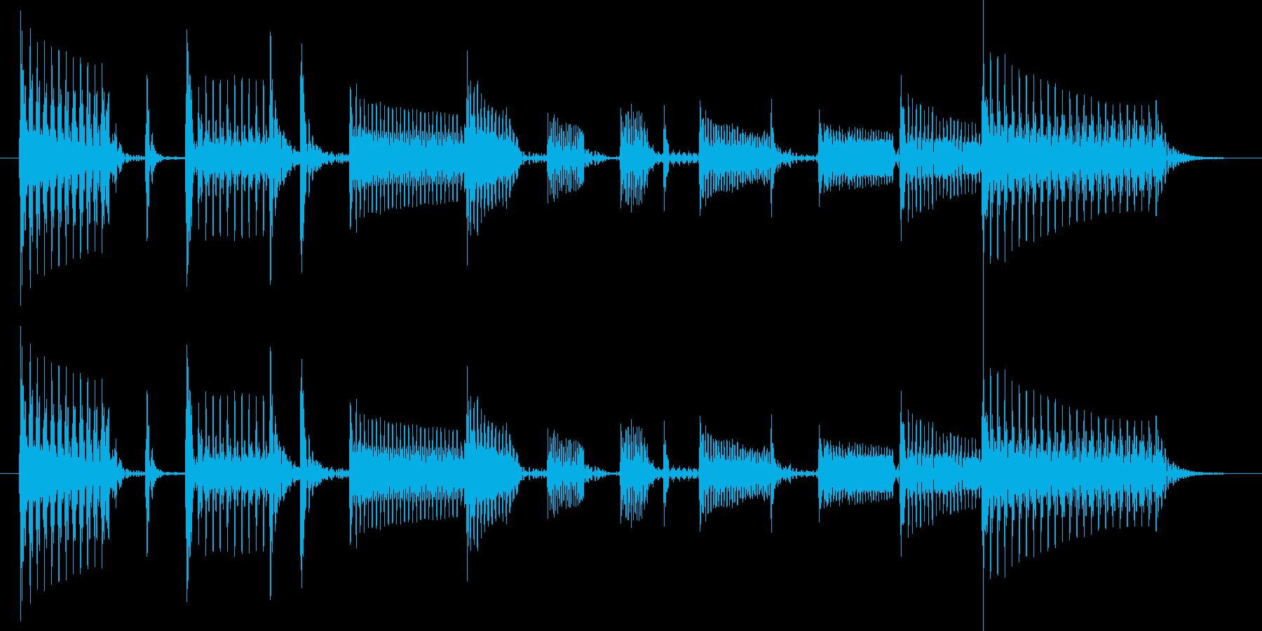 ベーススラップでファンキーなジングルの再生済みの波形