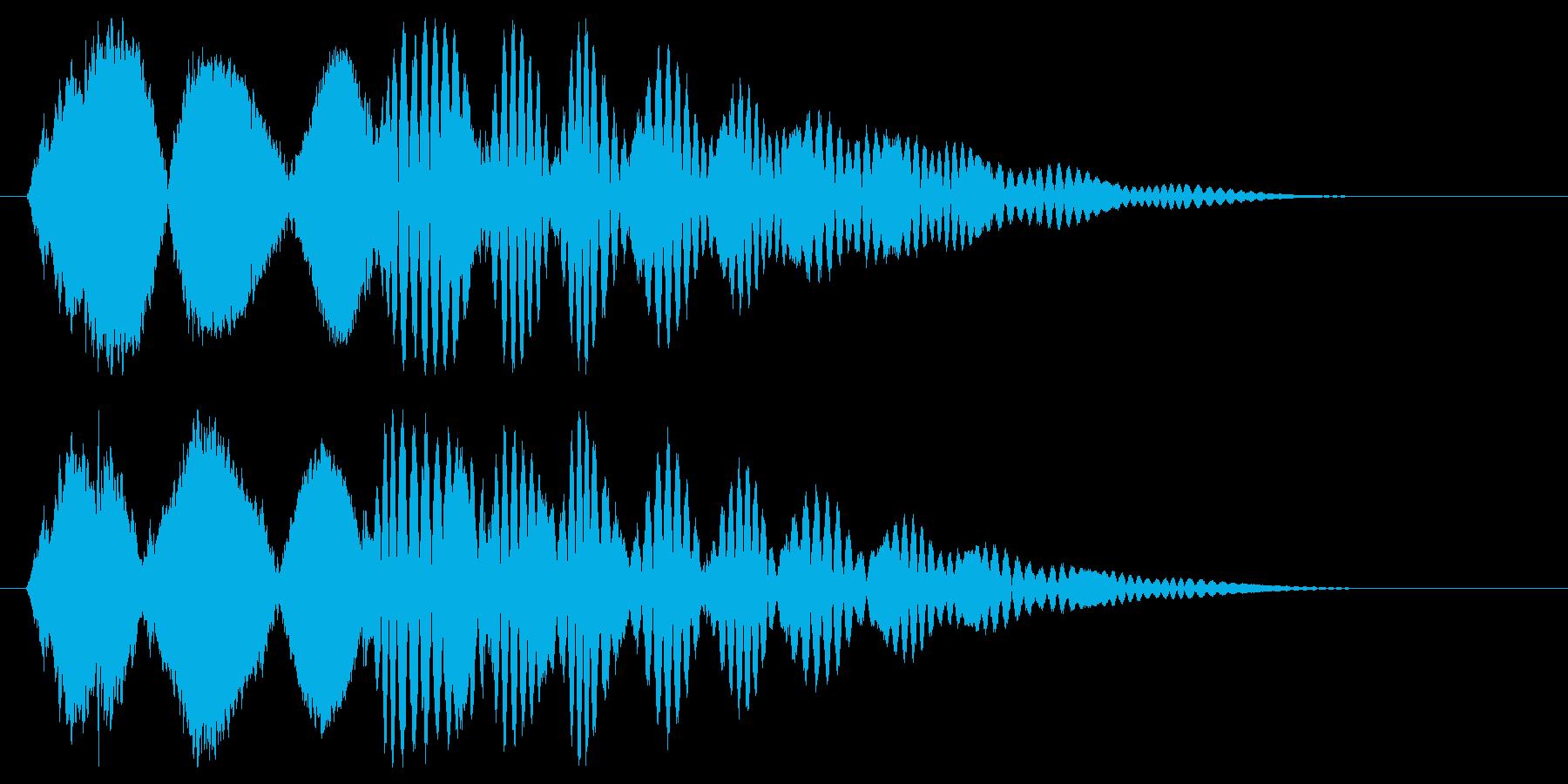 小鳥が元気にさえずる効果音の再生済みの波形