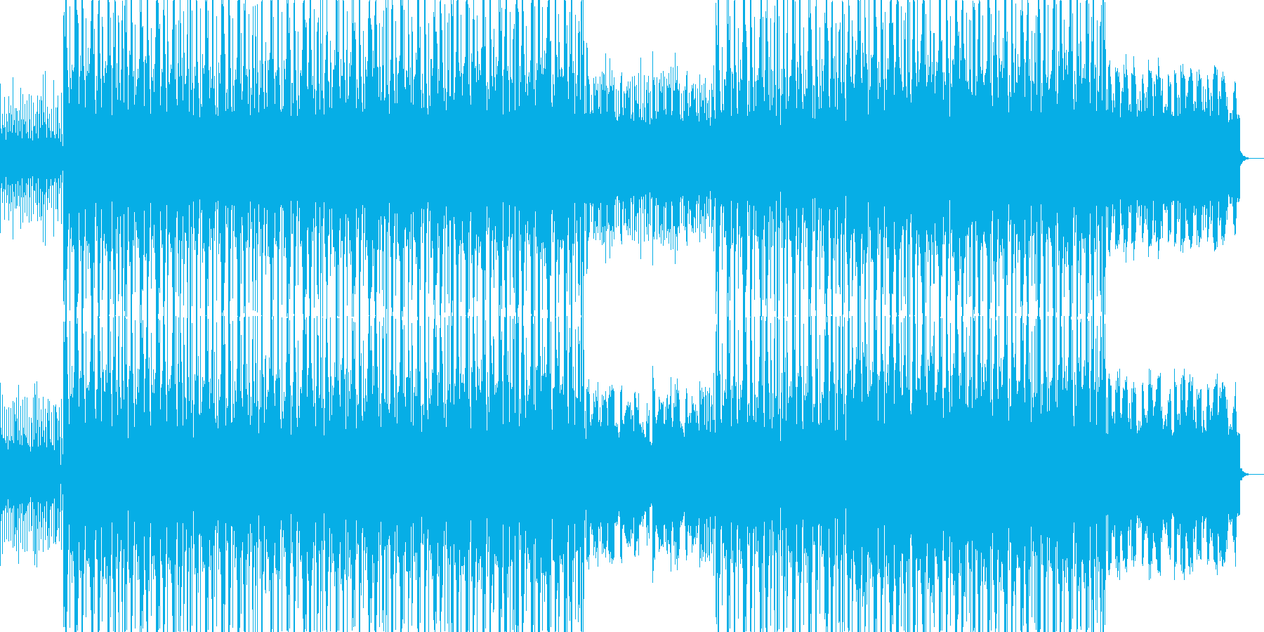 EDMを取り入れたアメリカンポップス風の再生済みの波形