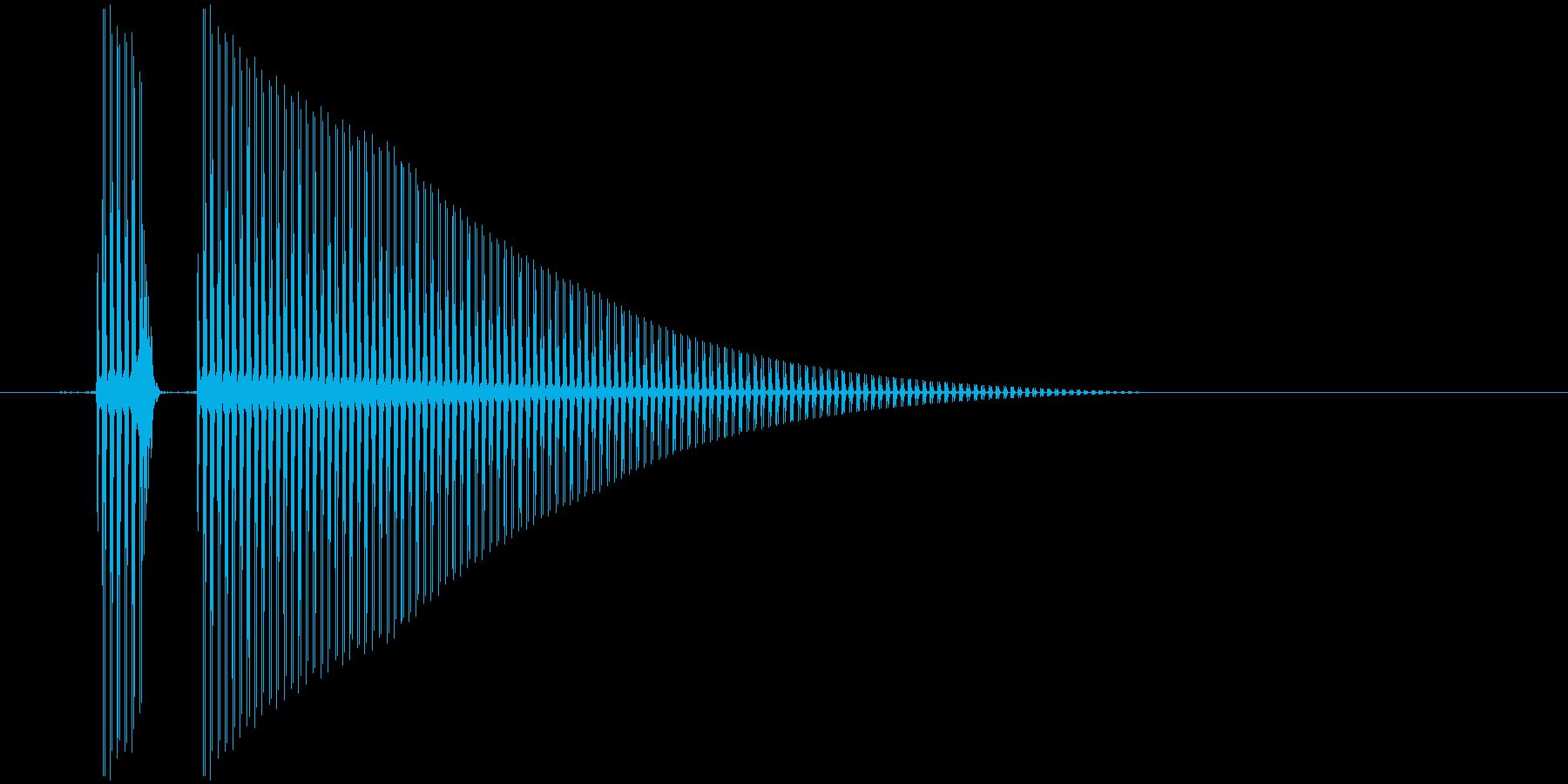 クリック音。昔のゲーム風。「ポン」の再生済みの波形