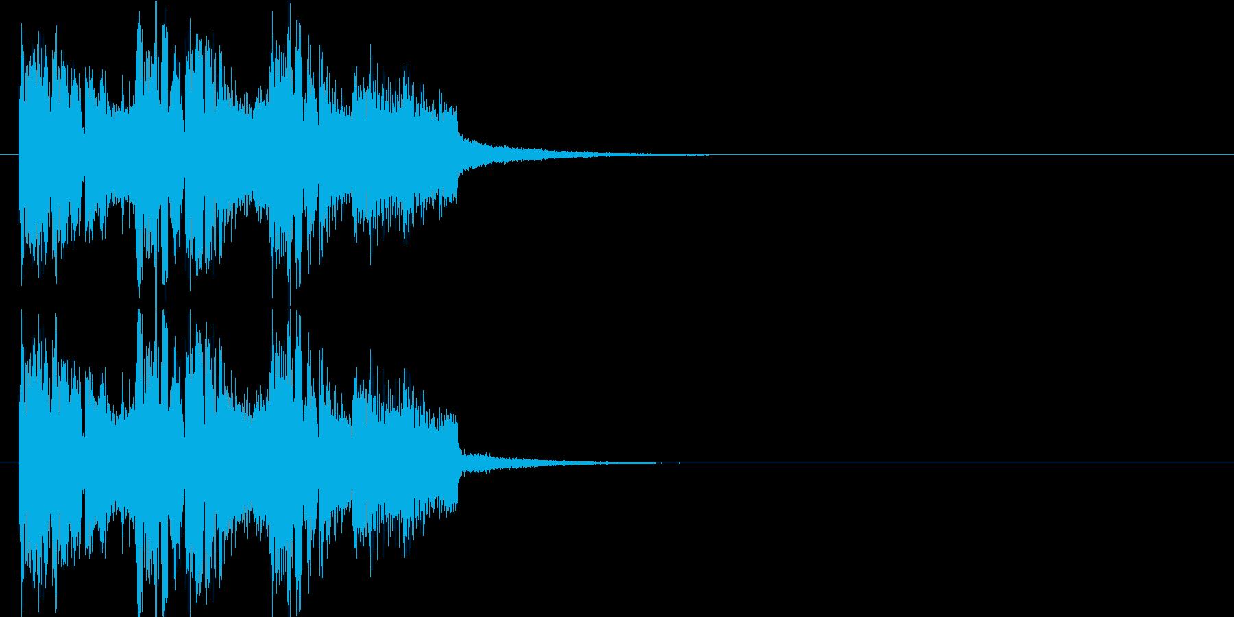 登場 コミカル イベント 慌ただしいの再生済みの波形