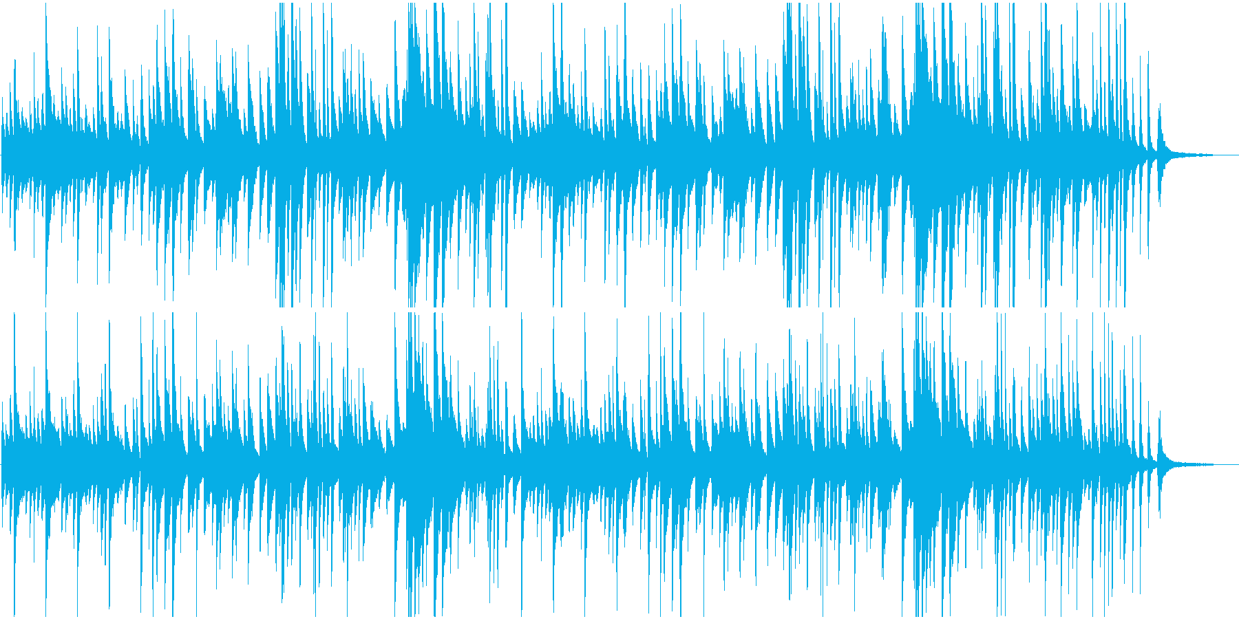 ピアノBGMしっとり大人のジャズバラードの再生済みの波形