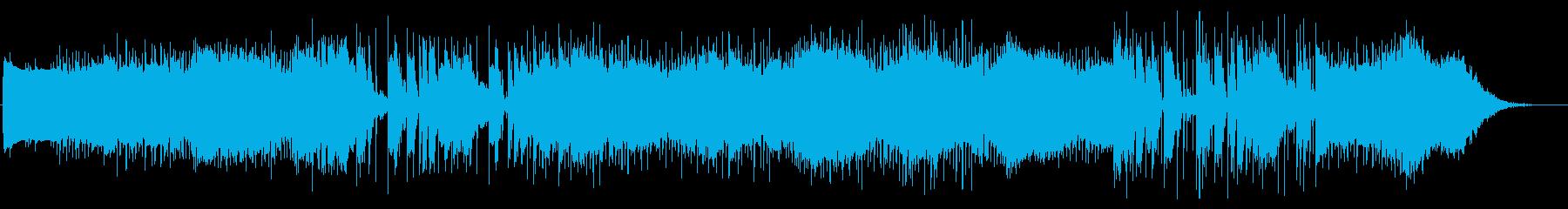 ダークすぎないエレクトリック曲の再生済みの波形