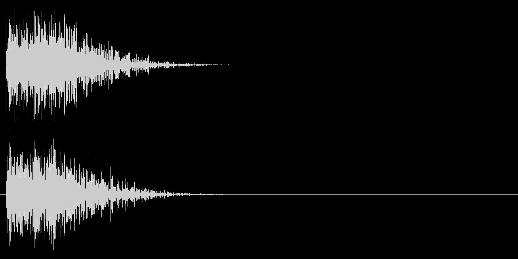 汎用 ヒット系02(小) 出題 フリップの未再生の波形