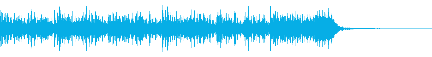 リズミカルなヘビーメタルの再生済みの波形