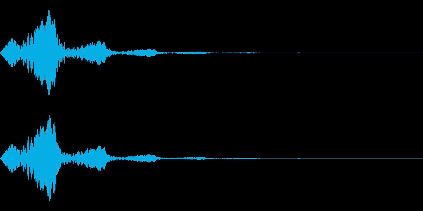 クリック、アタック音(ぷわ+エコー)の再生済みの波形