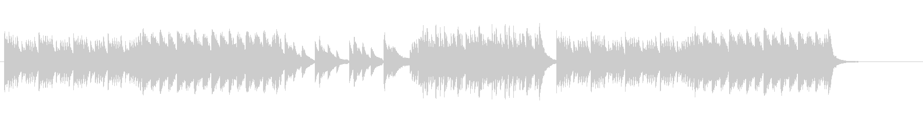 美しく爽やかなバラード曲の未再生の波形