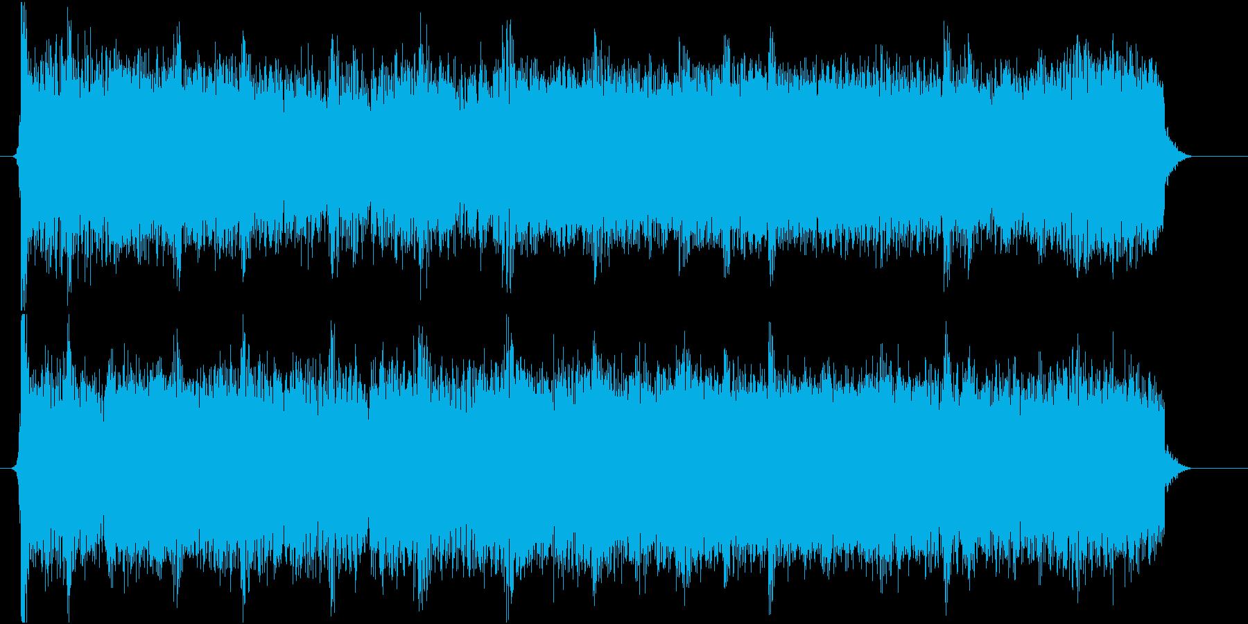 ジングル ロックギターの再生済みの波形