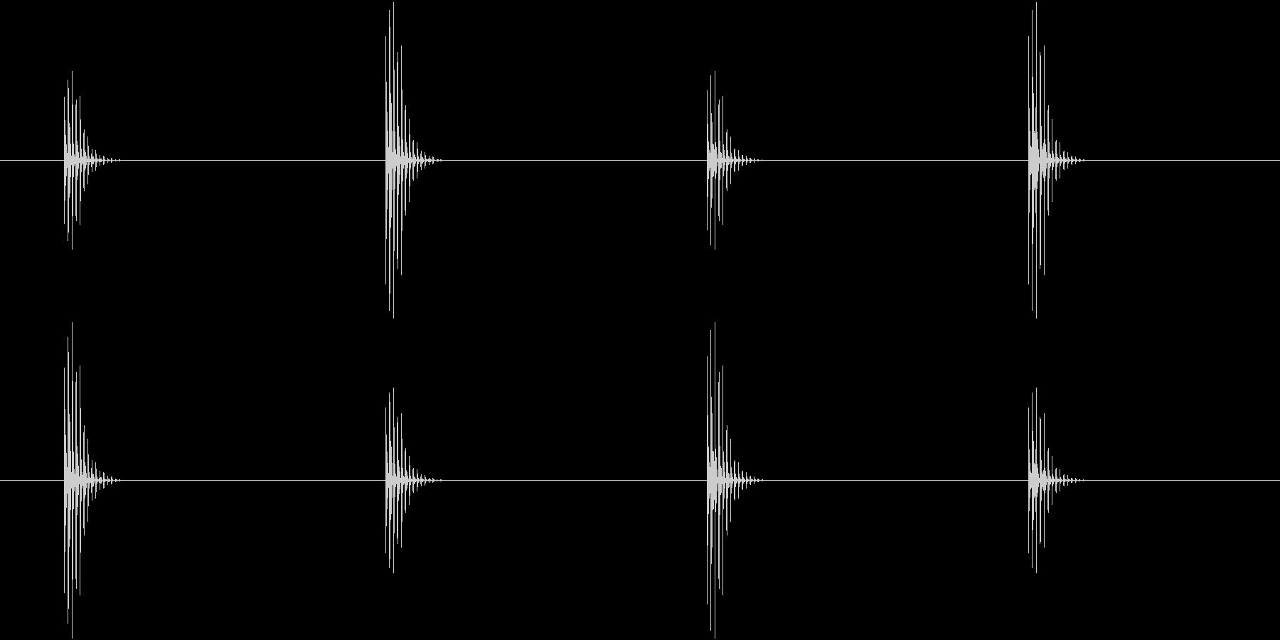 可愛い足音、歩く(ループ可能)の未再生の波形