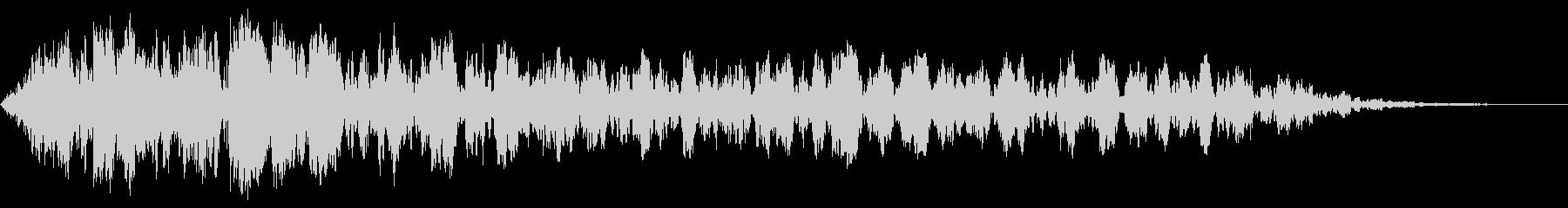 不穏な環境音の未再生の波形