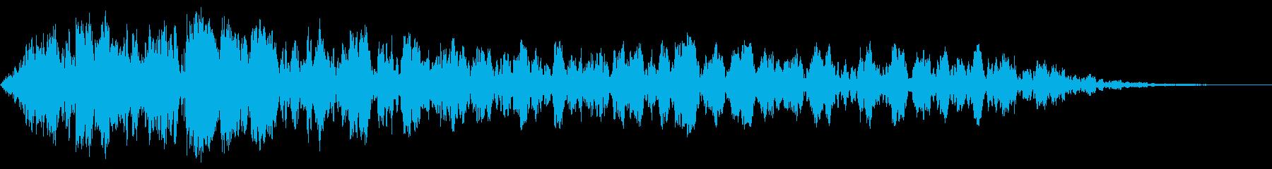 不穏な環境音の再生済みの波形