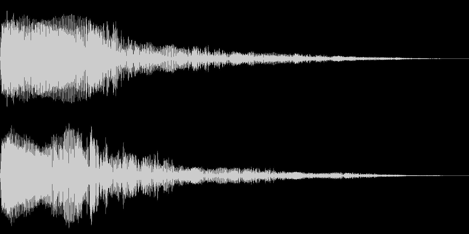 ホラー系アタック音61の未再生の波形