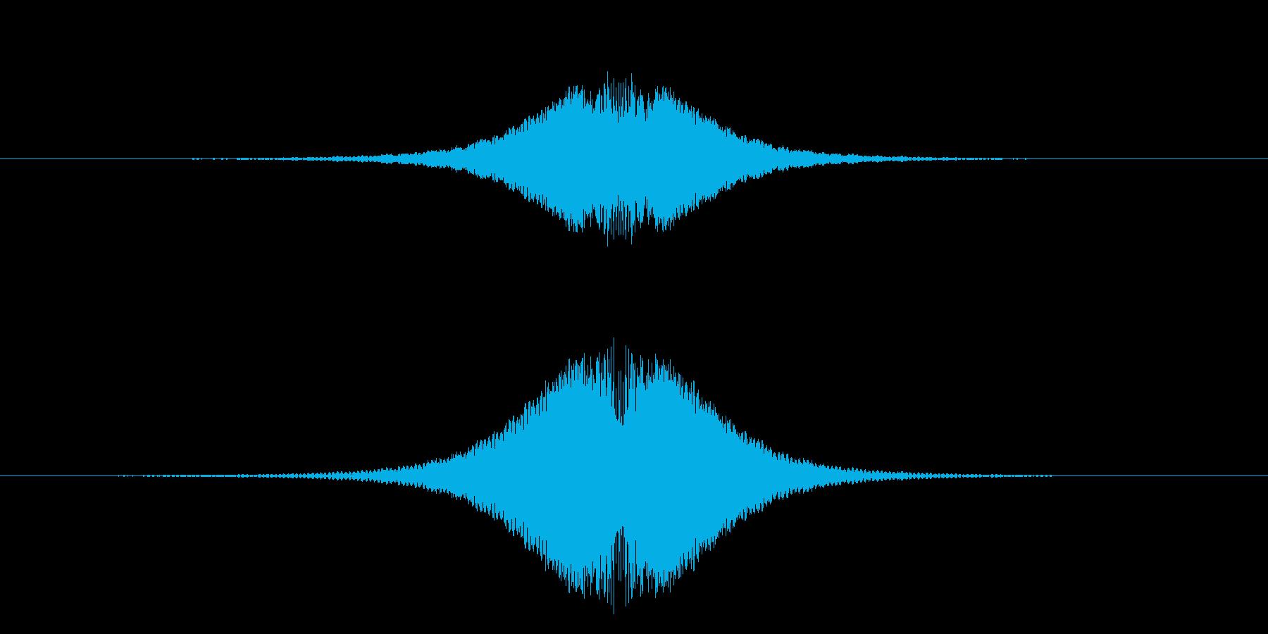 速い何かが通り過ぎる音の再生済みの波形