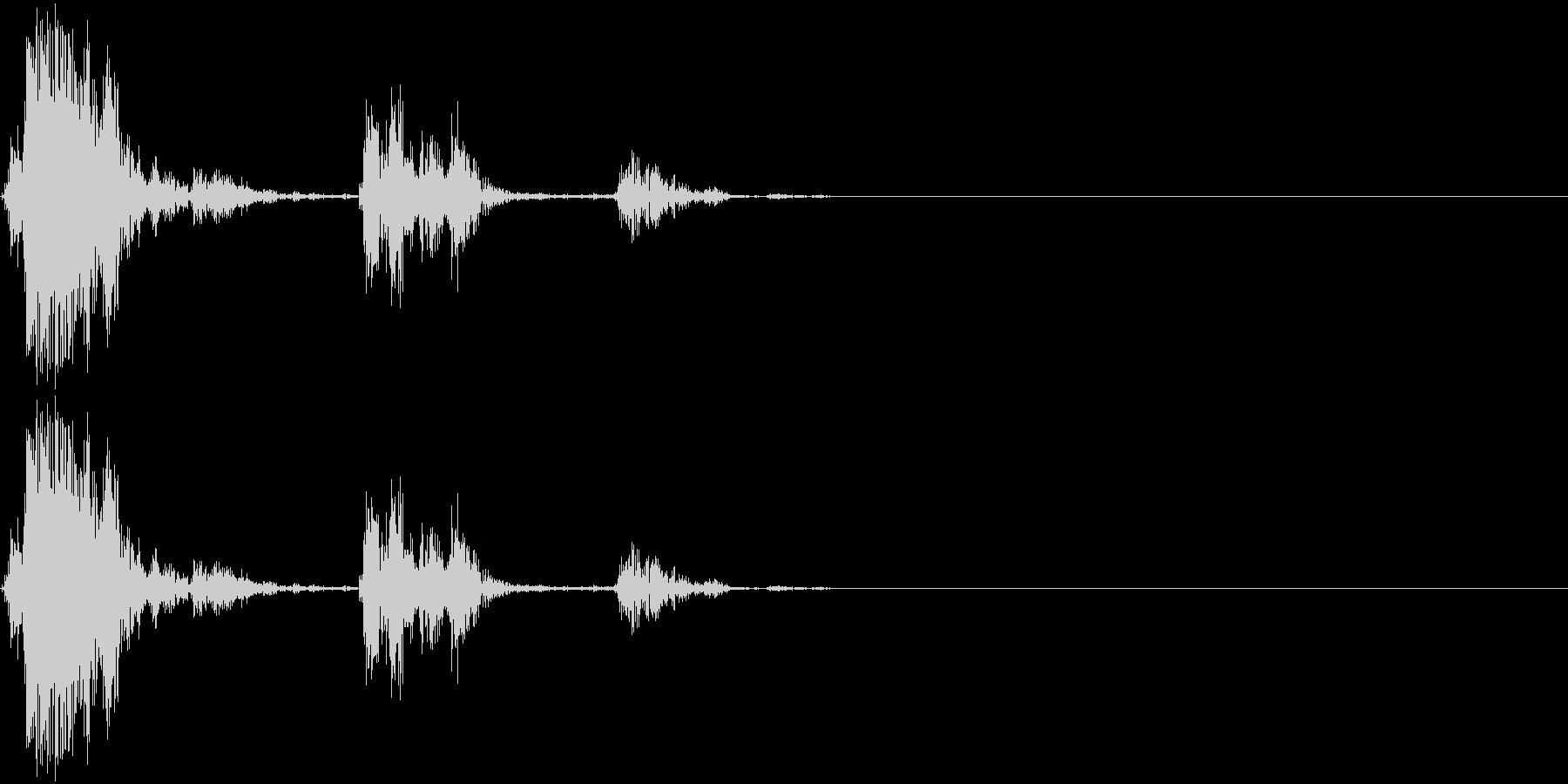決定音(アナログ風)の未再生の波形