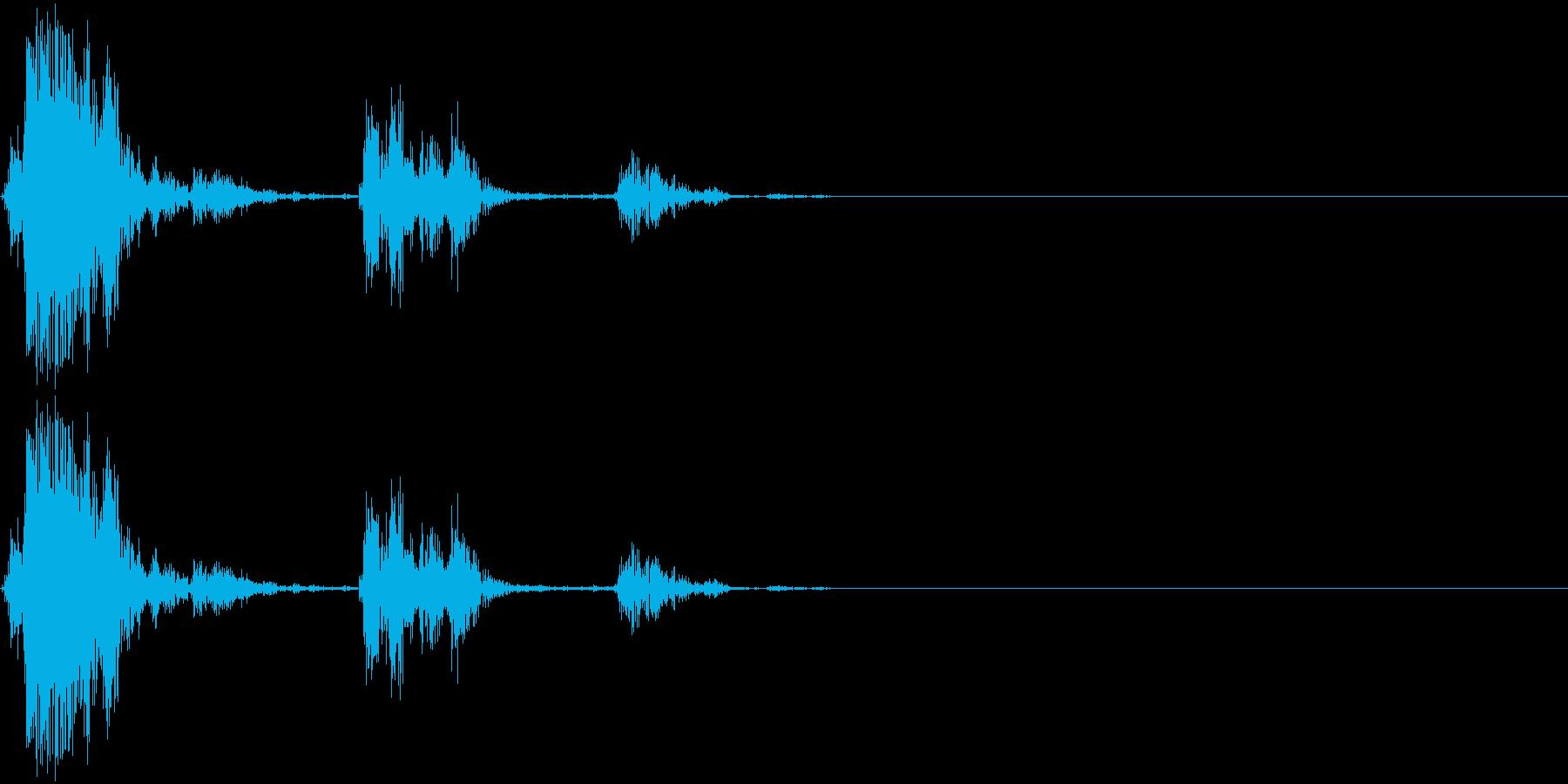 決定音(アナログ風)の再生済みの波形