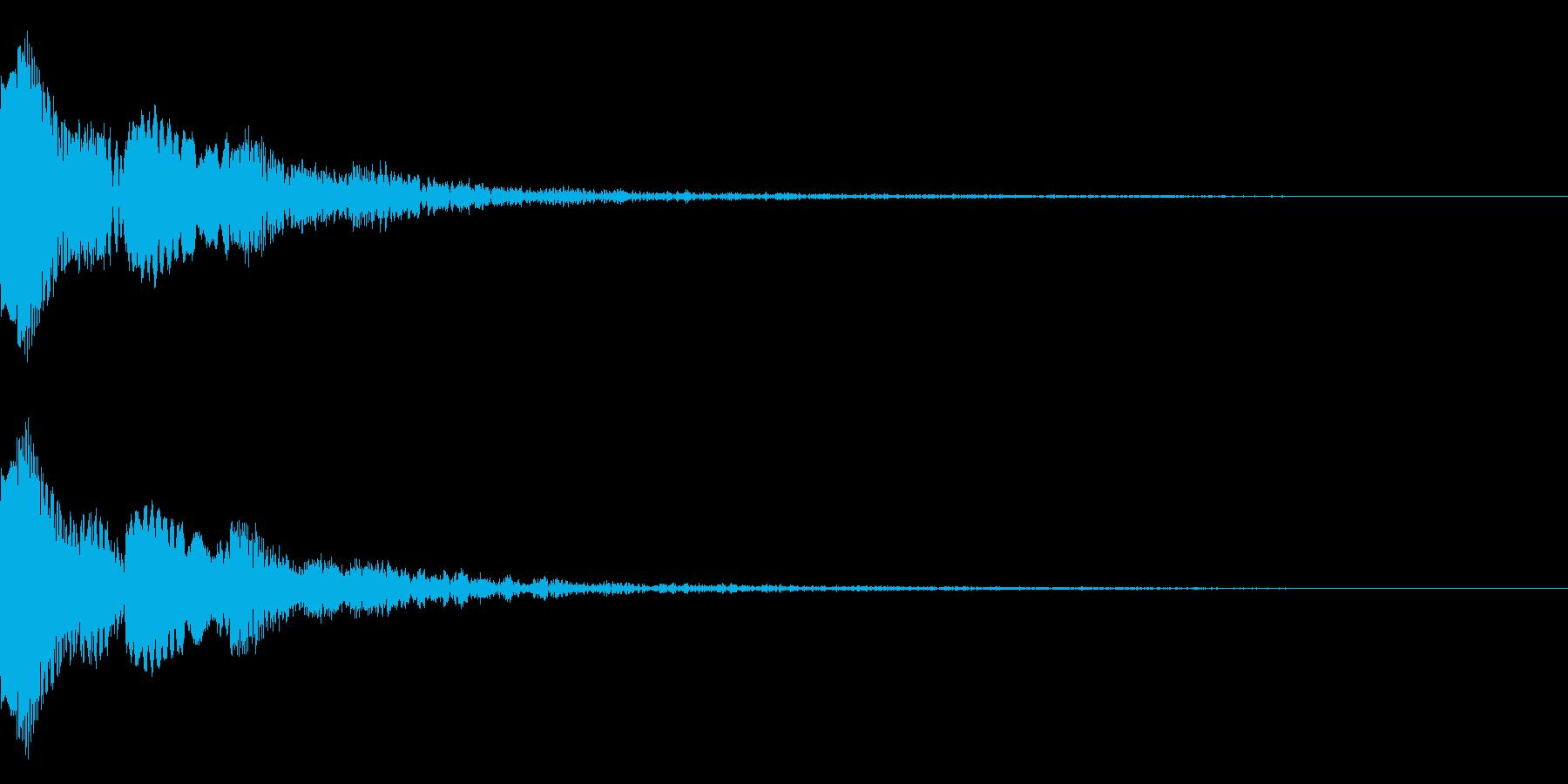 ピョコンとしたかわいい音です。の再生済みの波形