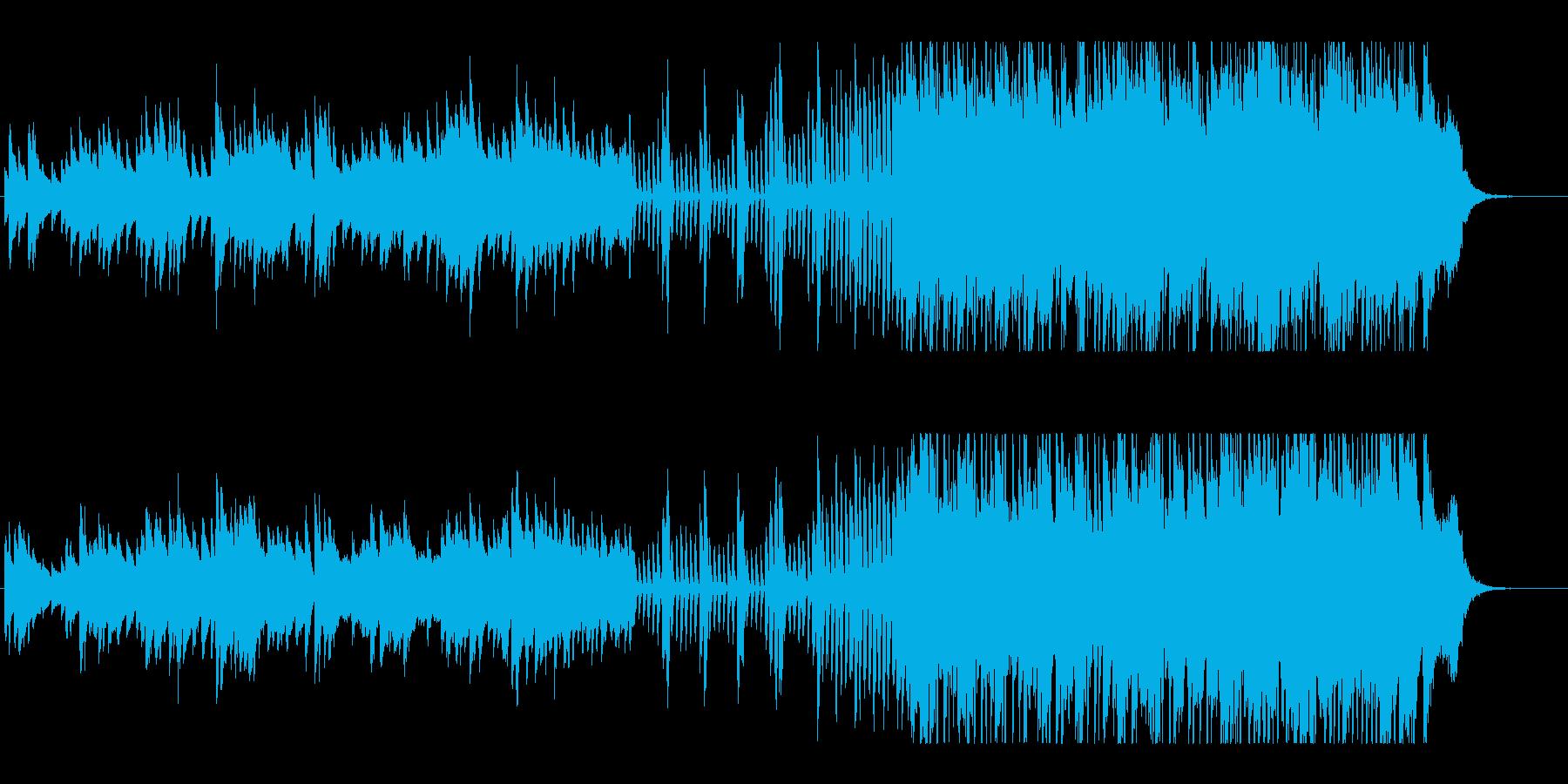 冬の訪れを告げるようなピアノ曲の再生済みの波形