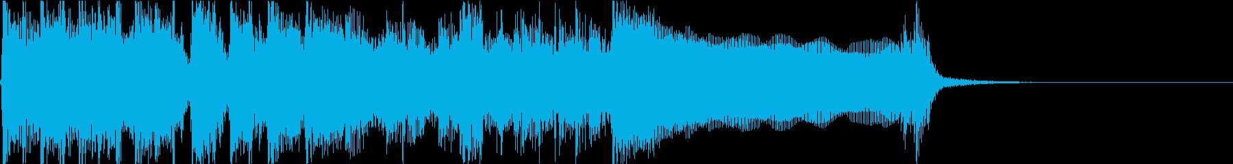 生演奏でのハードなロックジングルL2の再生済みの波形