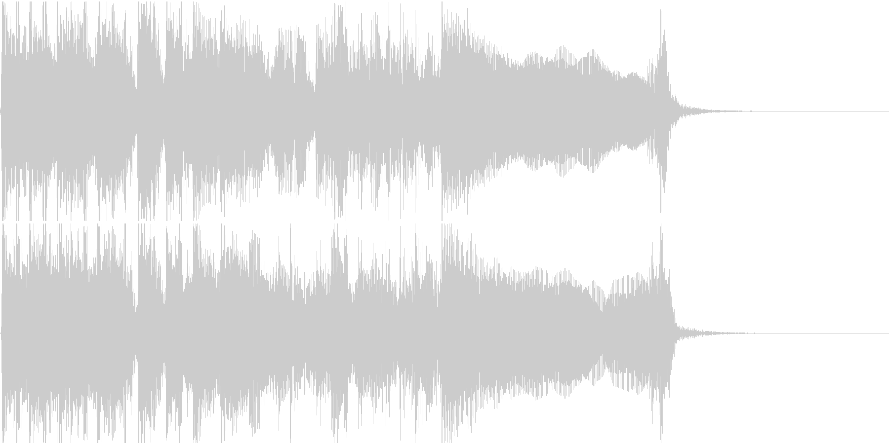 生演奏でのハードなロックジングルL2の未再生の波形