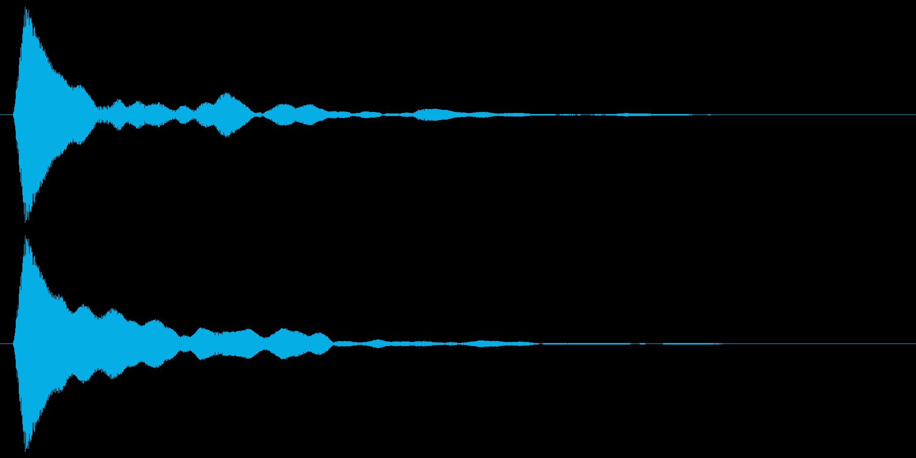 テック系ボタン音3(ターン)の再生済みの波形