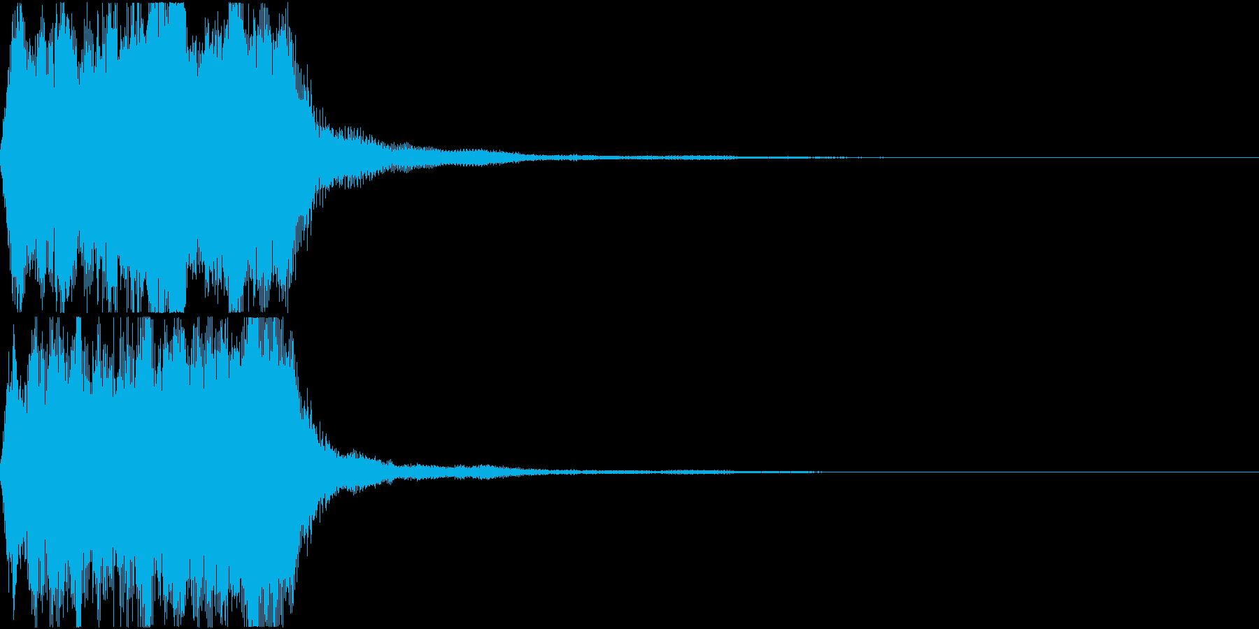 ラッパ ファンファーレ 定番 23の再生済みの波形