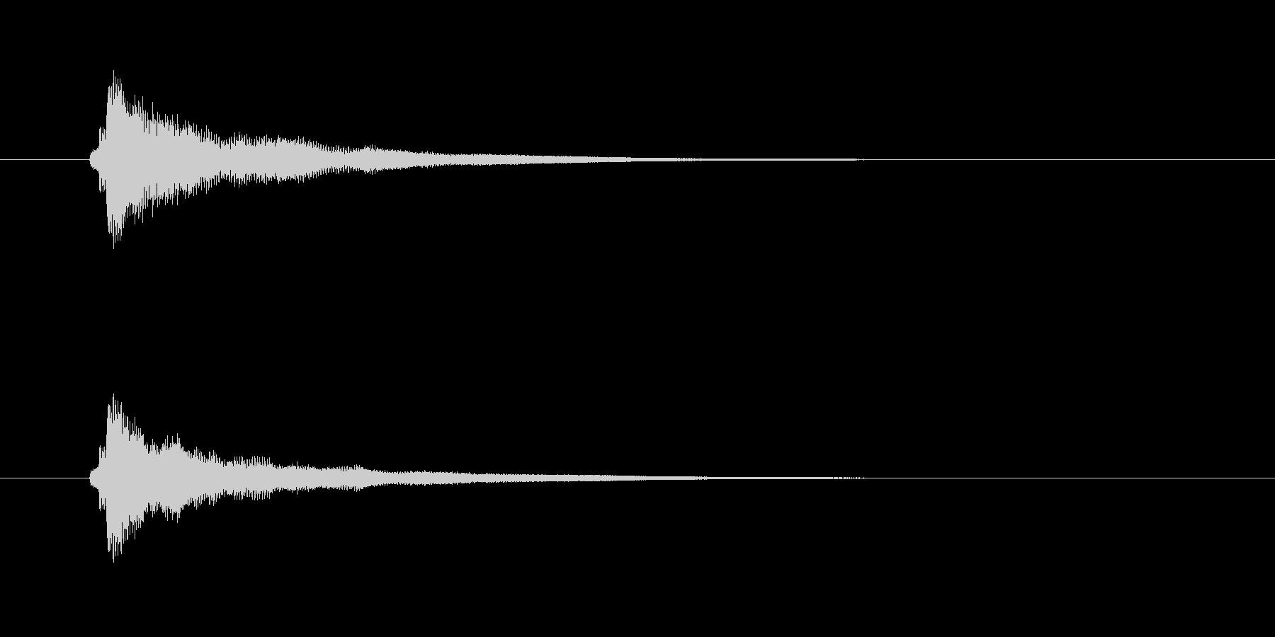チャラーン(キーボードの和音)の未再生の波形
