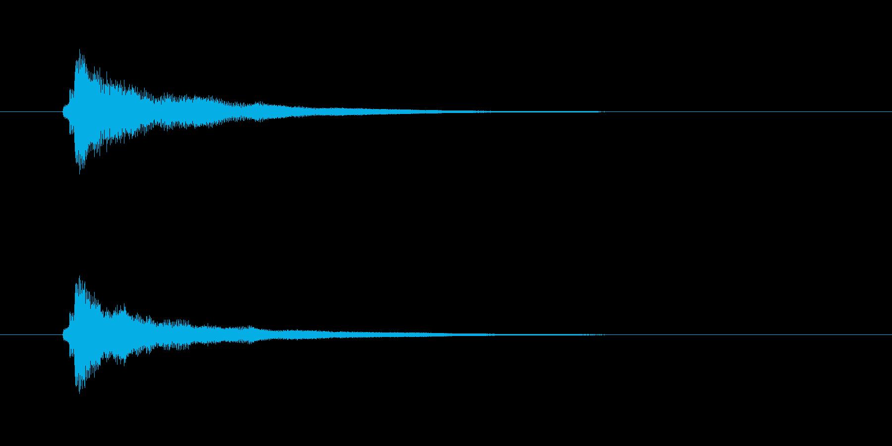チャラーン(キーボードの和音)の再生済みの波形