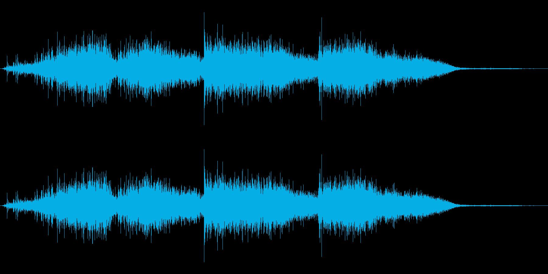ティッシュなどで鼻をかんだ時の効果音03の再生済みの波形