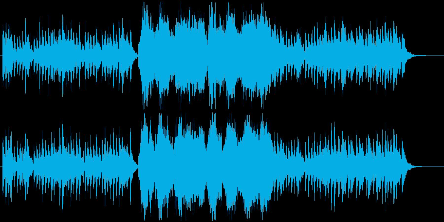 冬のトイピアノとストリングスBGMの再生済みの波形
