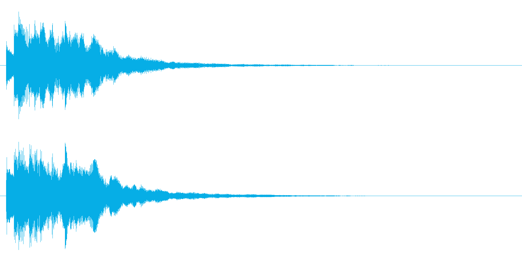 お知らせ・アナウンス・ポイント獲得音の再生済みの波形