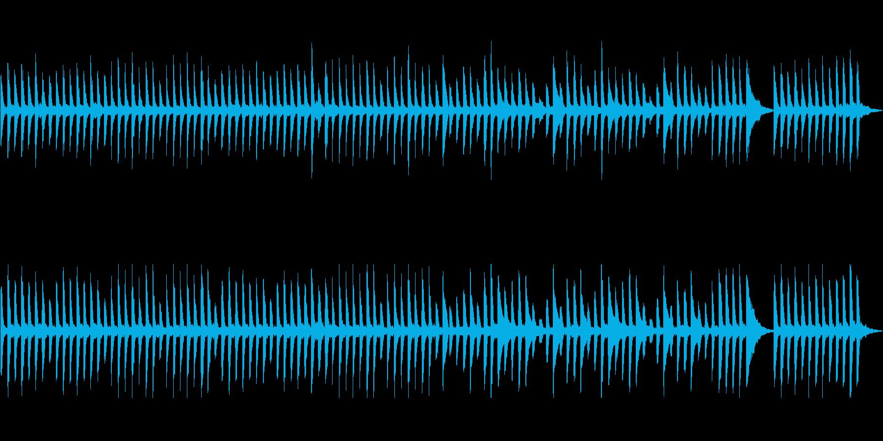 ほのぼのな雰囲気のピアノ曲の再生済みの波形