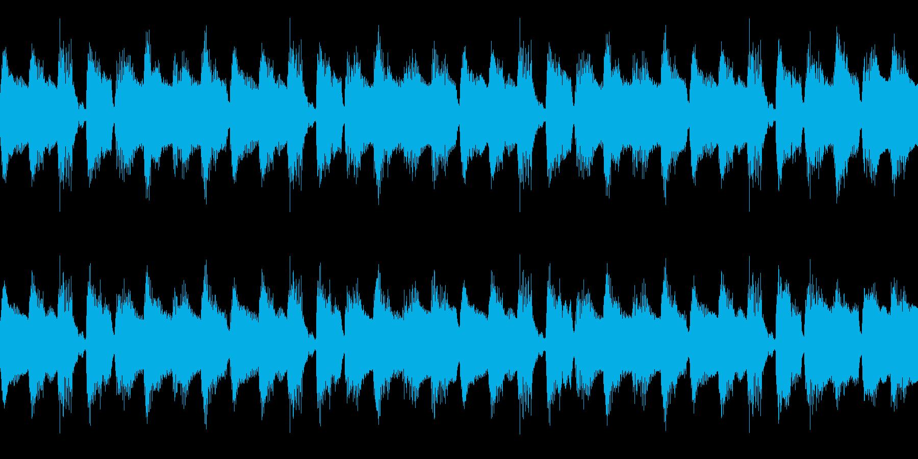ほのぼのとリラックスした雰囲気のBGMの再生済みの波形