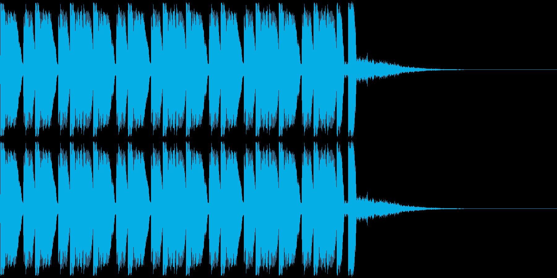 緊張感のあるジングルの再生済みの波形