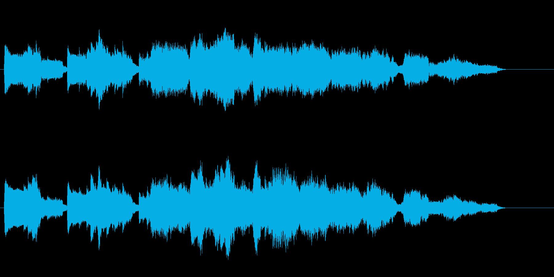 静寂感のある神秘的な環境音楽の再生済みの波形
