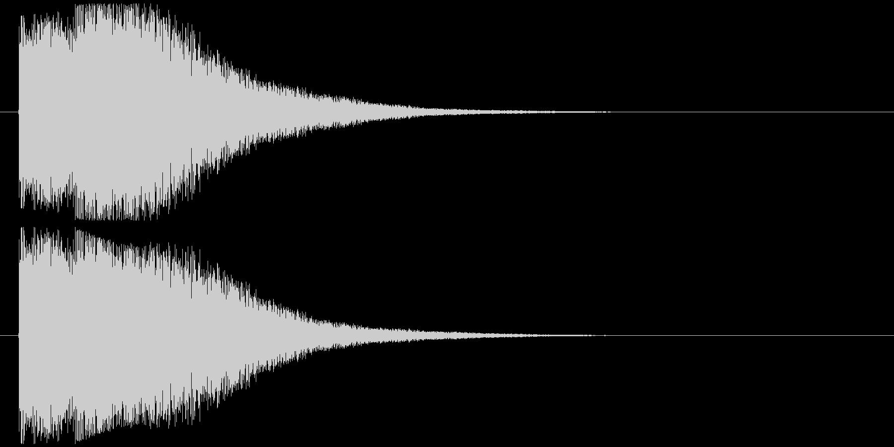 ダメージ音の未再生の波形