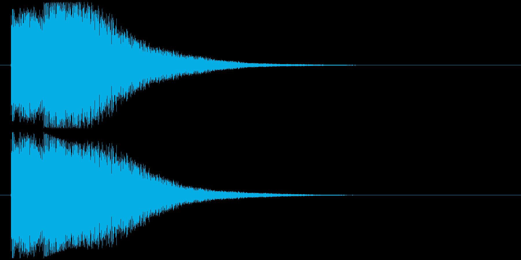 ダメージ音の再生済みの波形