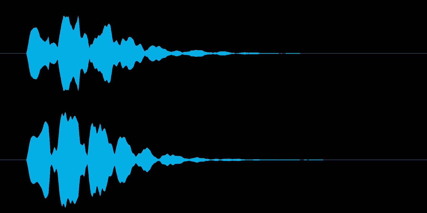 改札 ビープ音01-14(音色2 遠)の再生済みの波形