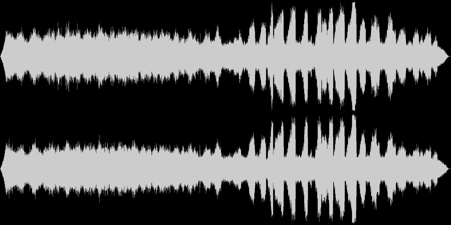 ミーンミーン 北海道の蝉 音景色 その1の未再生の波形