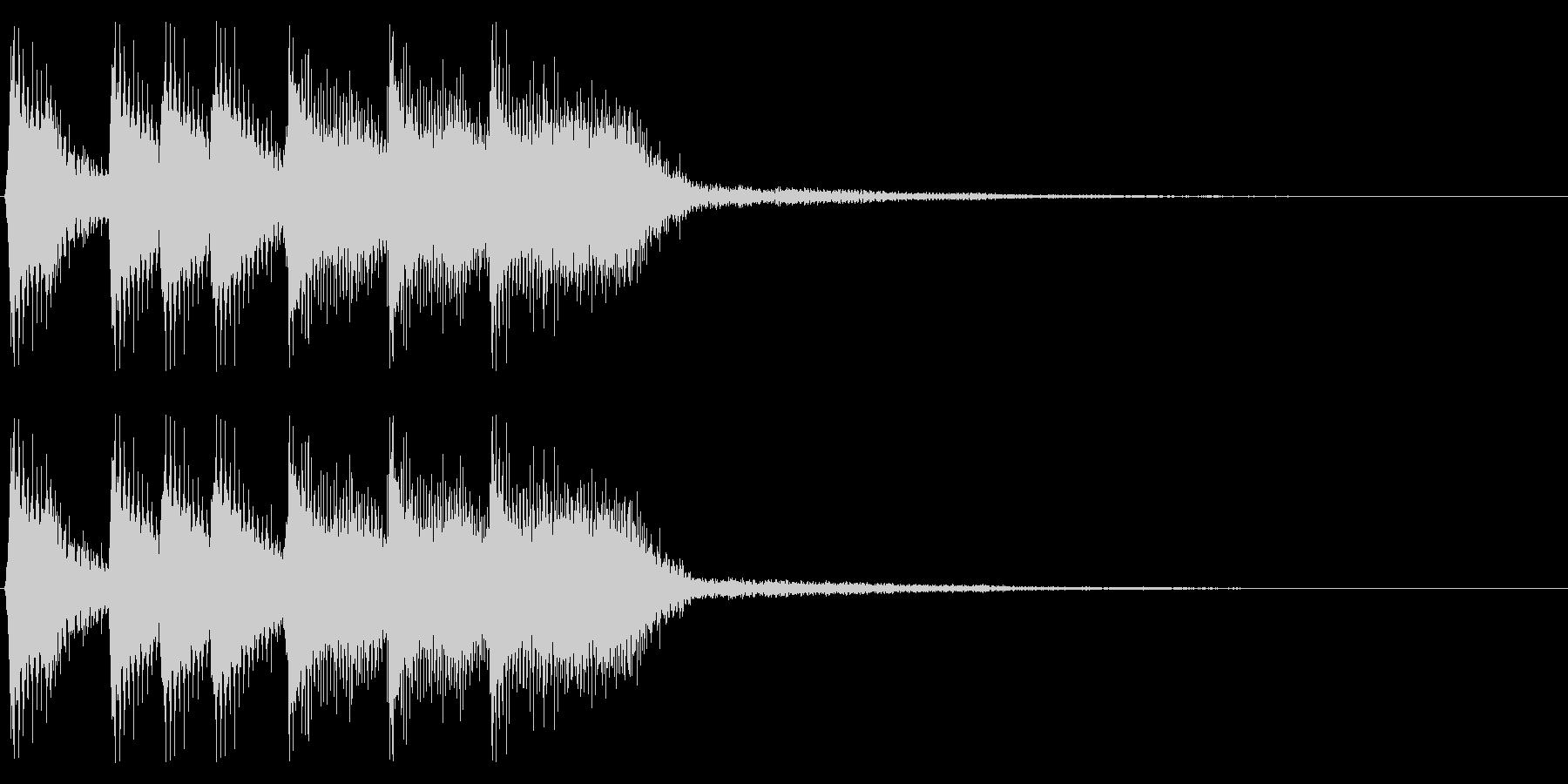 ファミコン風ゲームクリア音 レトロな音の未再生の波形