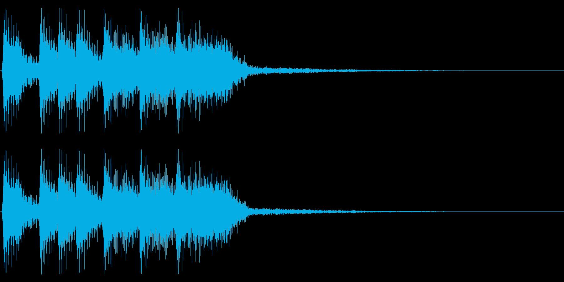 ファミコン風ゲームクリア音 レトロな音の再生済みの波形