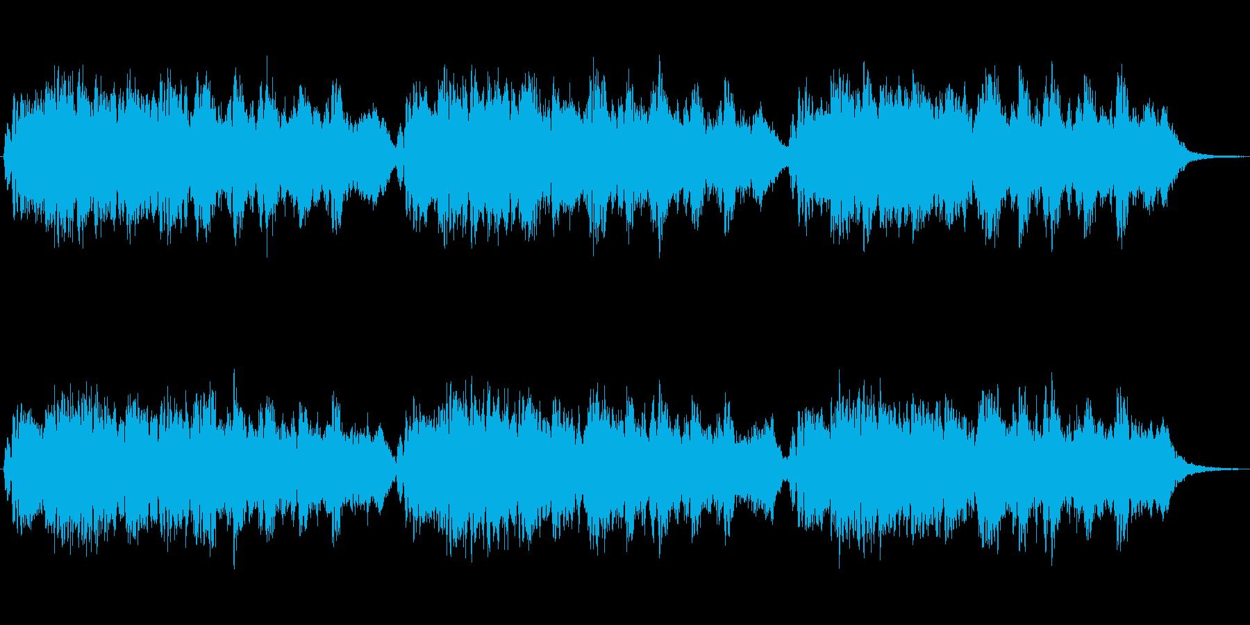 フルートによる素朴な雰囲気のジングルの再生済みの波形