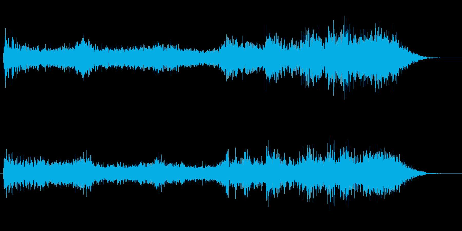 長めのホラー風Pad音の再生済みの波形