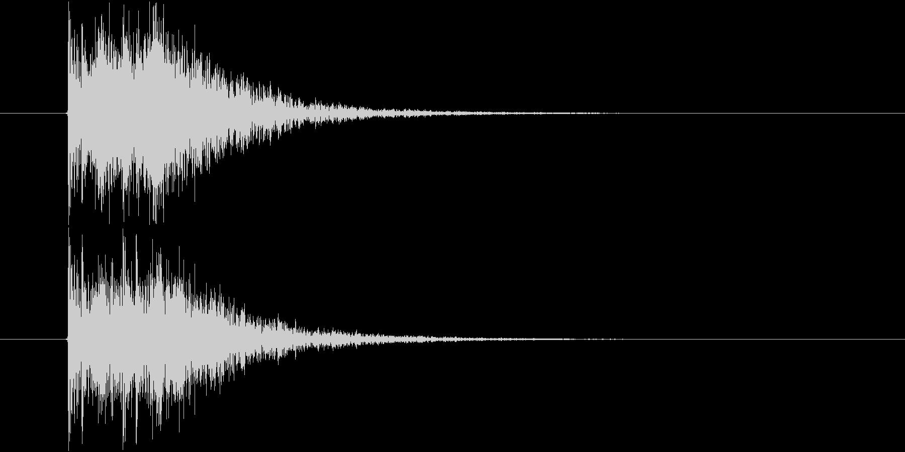カカン 拍子木 2連打 速めの未再生の波形