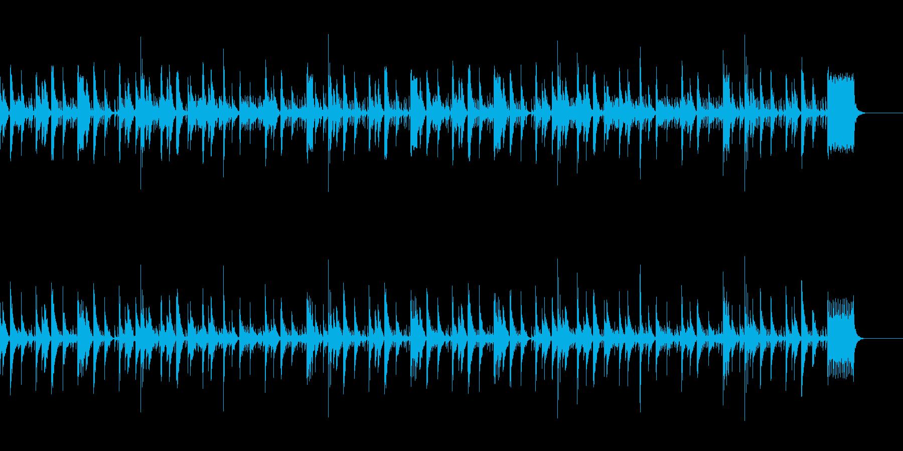 打楽器とフルートのほのぼのした曲の再生済みの波形