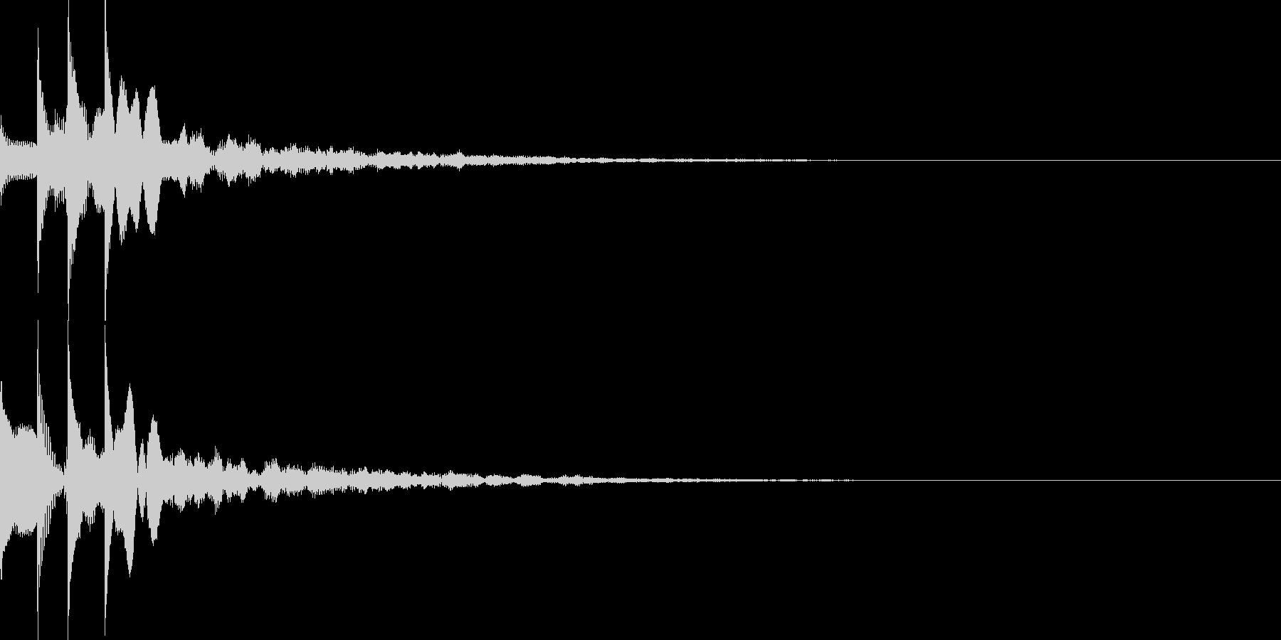 セクション音01の未再生の波形