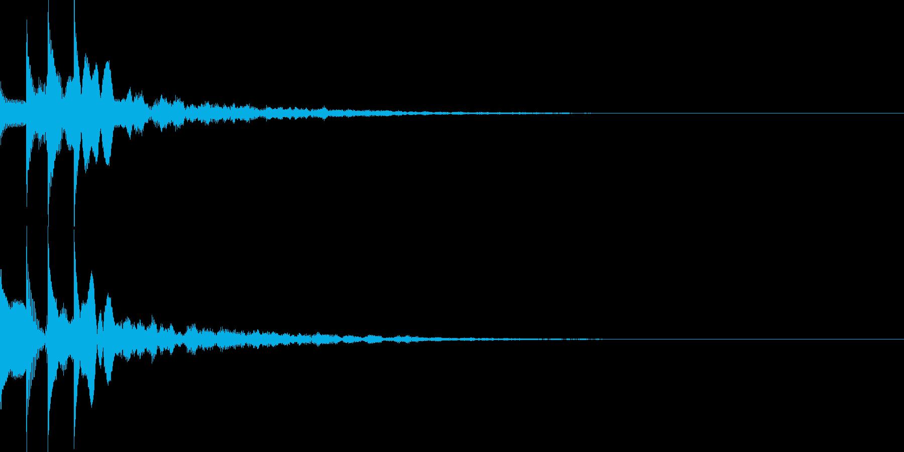 セクション音01の再生済みの波形