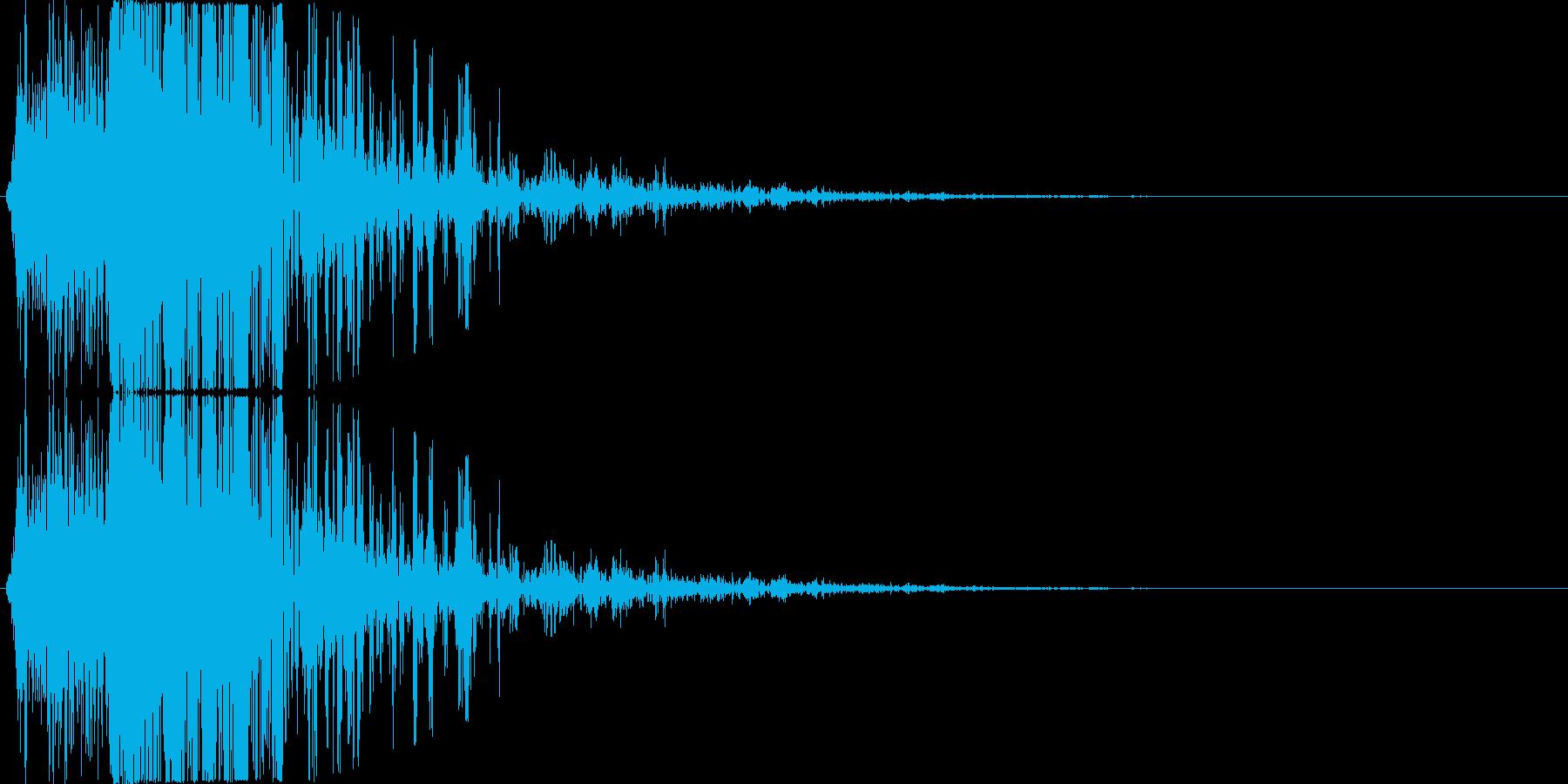 消滅、ヒット音などのイメージの再生済みの波形