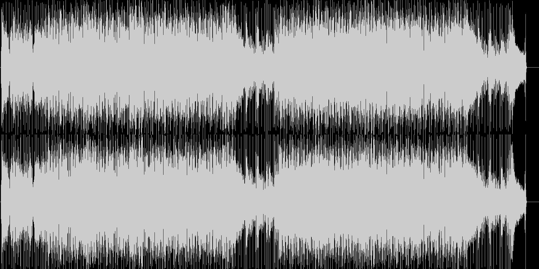 爽やかで軽快なロックフュージョンの未再生の波形