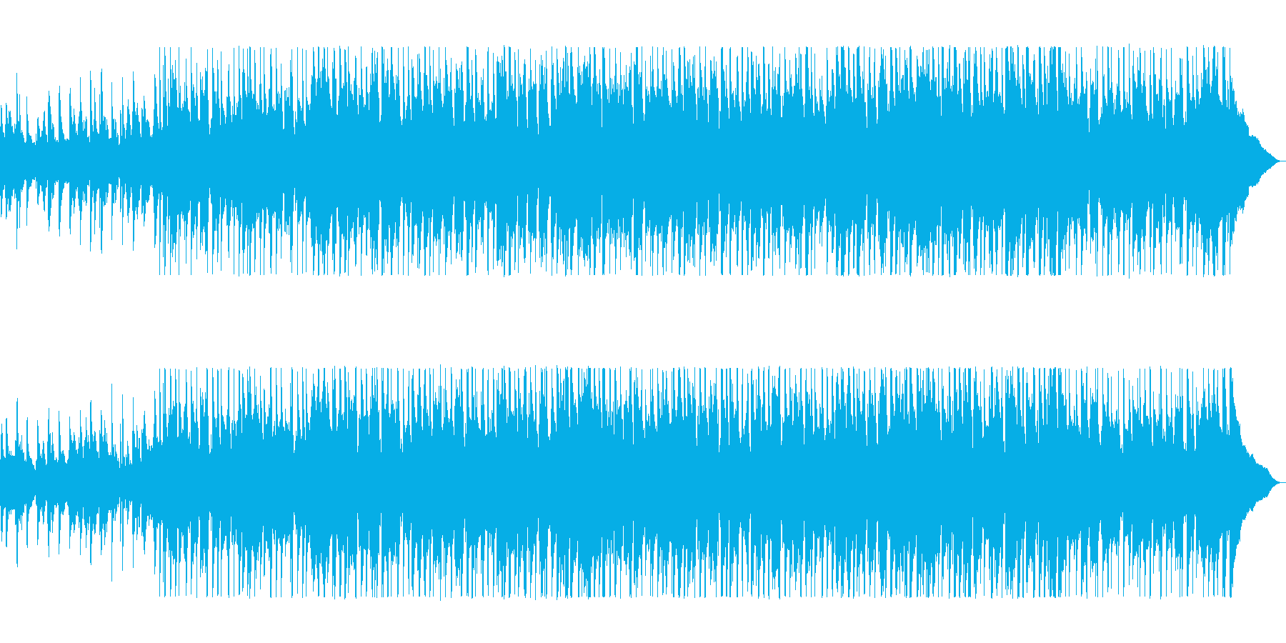 牧場から聞こえてきそうなカントリー曲の再生済みの波形