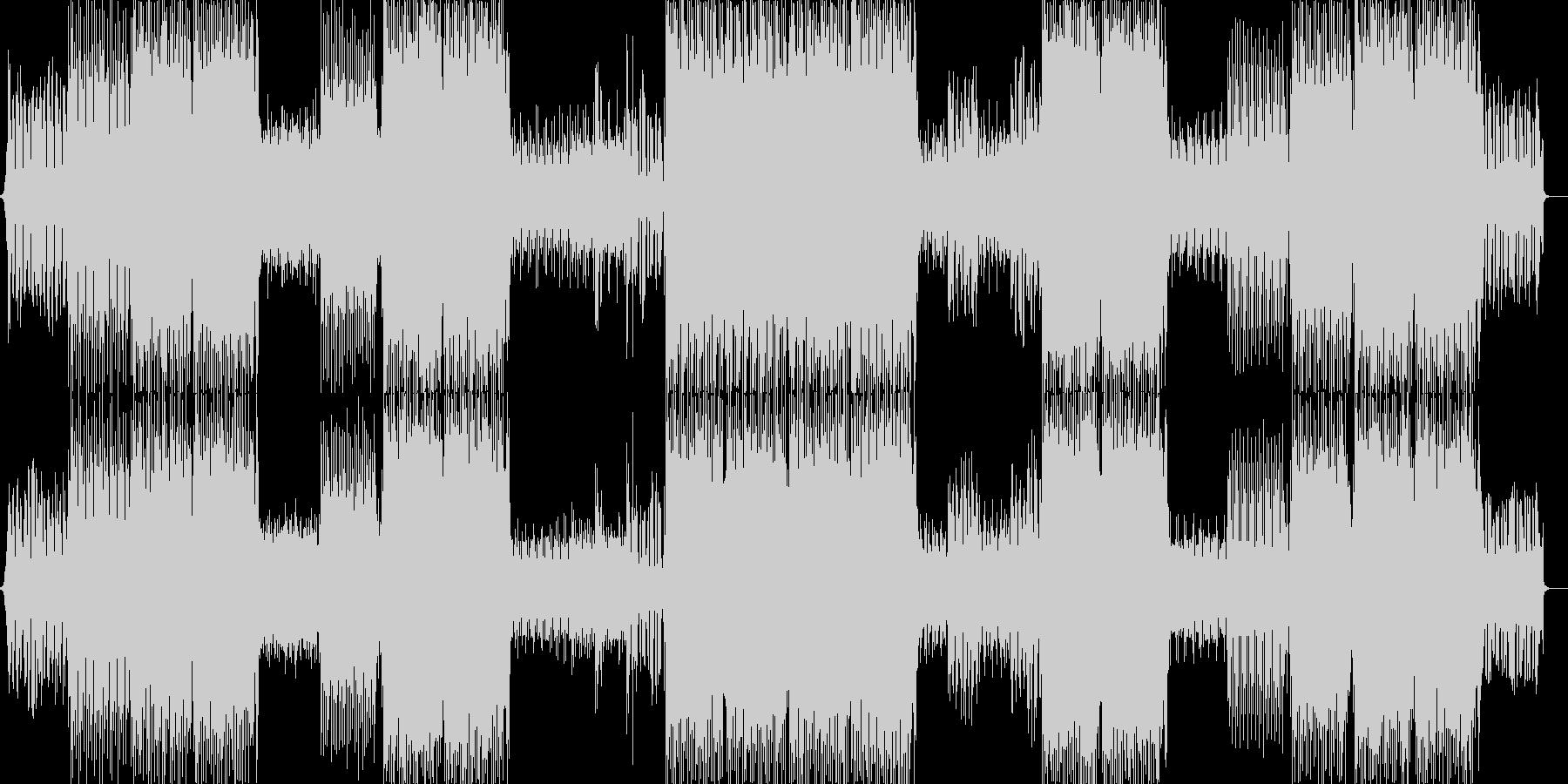 サイバーでかっこいいトランス系テクノの未再生の波形
